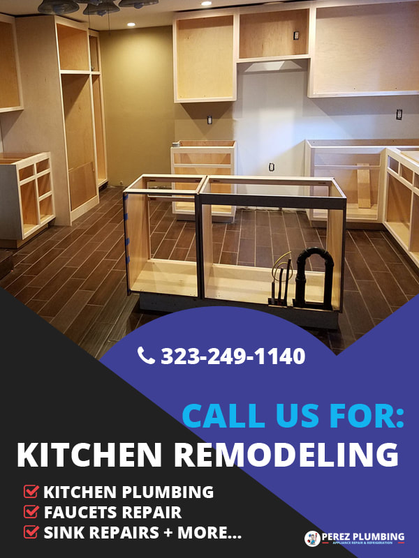 Kitchen remodel by Perez Plumbing